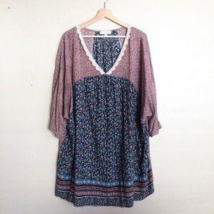 Umgee peasant boho prairie style tunic dress
